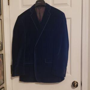 ark Blue Velvet Blazer